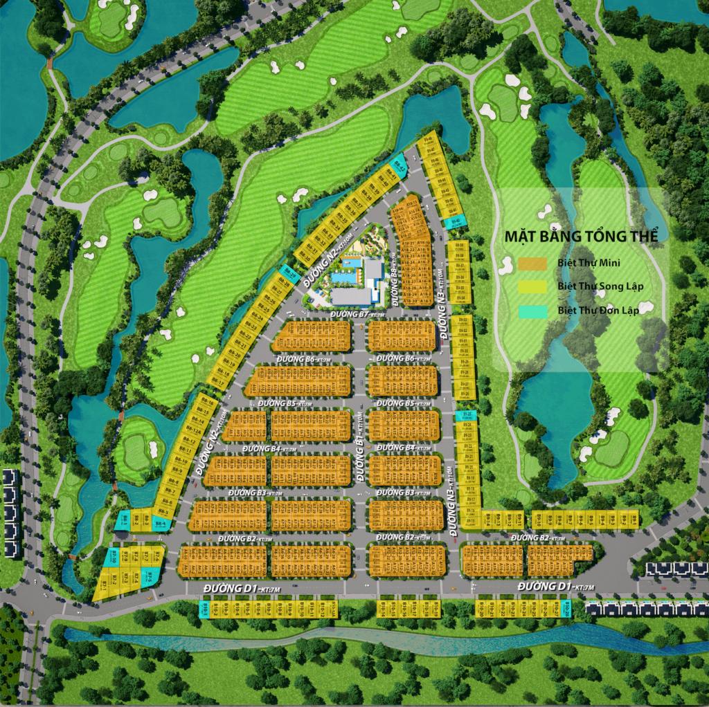 Tiến độ xây dựng West Lakes Golf & Villas mới nhất